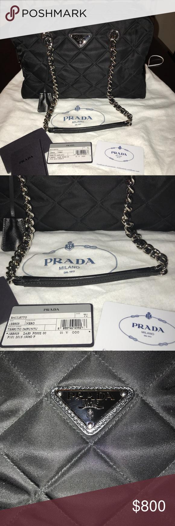 c2ee8ad68d67 💯Authentic Prada Tessuto Impuntu bag 1BB903 Authentic Prada 1BB903 from Prada  Outlet Italy - Shoulder