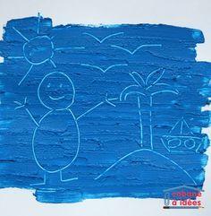 Peinture à la farine - dessin gravé | Activités de dessin, Art pour les enfants, Activité peinture