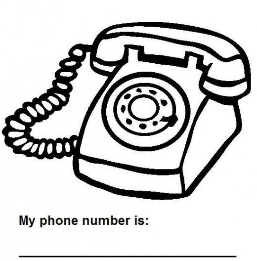 Free Worksheets For Kids To Practice Writing Their Phone Number