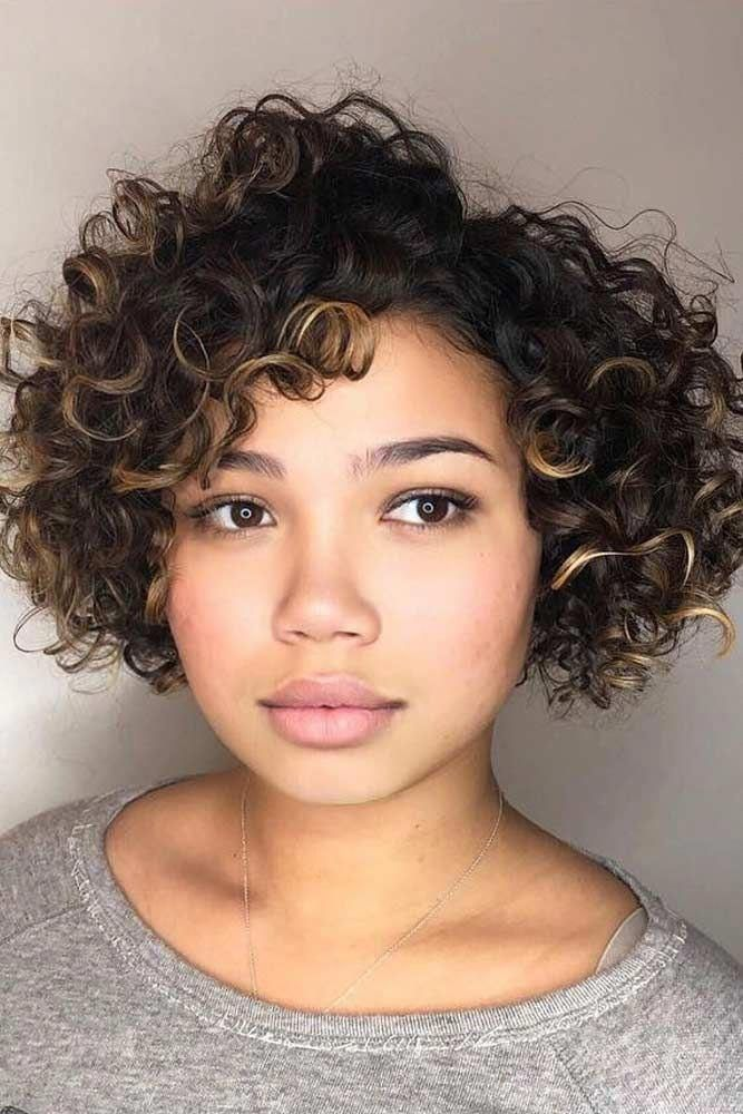 Short Curly Hairstyles For Round Faces  ...