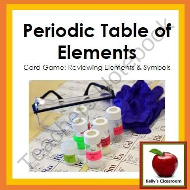 Periodic Table of Elements Review Game (I Have, Who Has, chemistry - best of periodic table symbols worksheet
