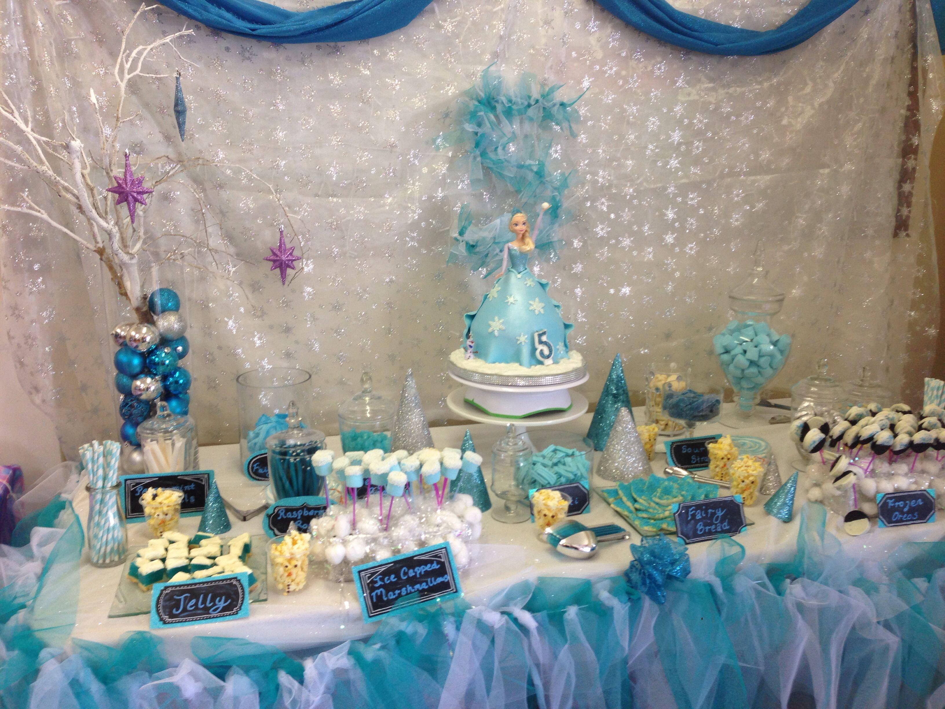 Frozen birthday party theme  kindergeburtstag  Pinterest  Frozen