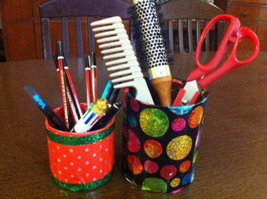 Easy Crafts For Kids Reuse Waste Materials To Make Multi Purpose Holders Pens Pencils Spoons