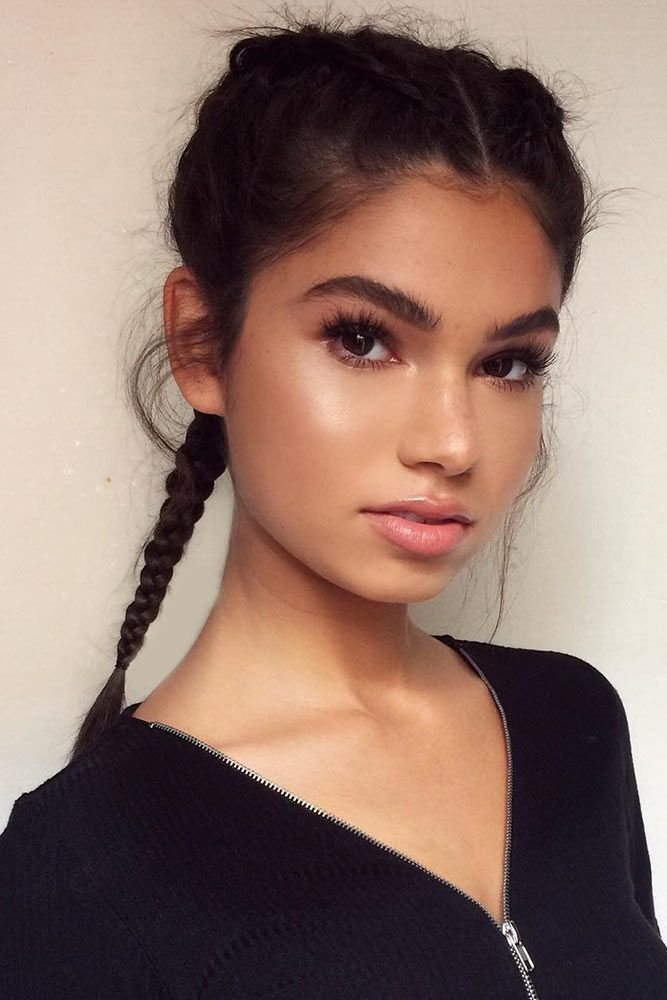 16 Best Hairstyles For Round Faces Hair Color Pinterest Face