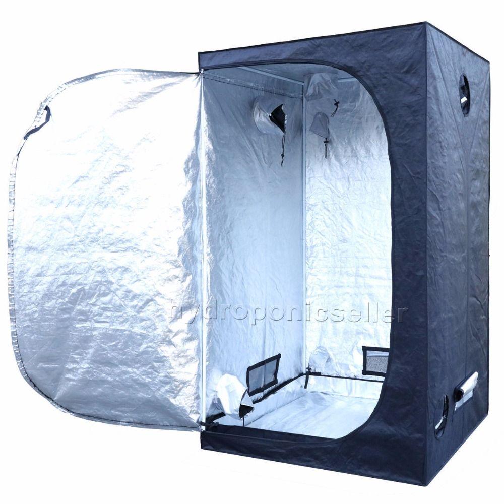 142 142 200 Cm 56 X 56 X 78 Tente De Culture Interieure Hydroponique Chambre Reflechissant Argent Mylar Non Toxique Home Decor Decor Home