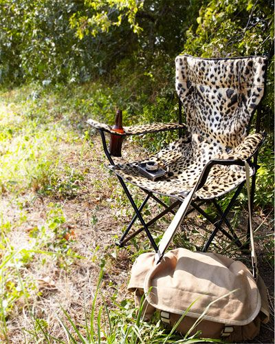 Leopard Print Folding Chair