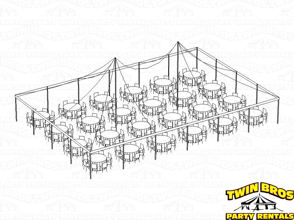 40 60 Pole Tent Layouts