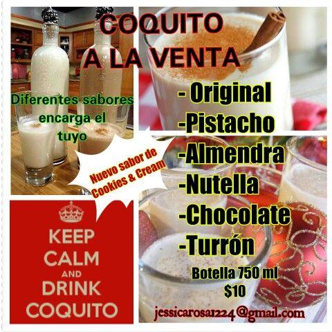 Venta De Coquito Diferentes Sabores En Pr Food And Drink Food Coquito