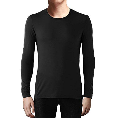 Indera Mens Dual Face Raschel Knit Performance Thermal Underwear Top with Silvadur ColdPruf Baselayer