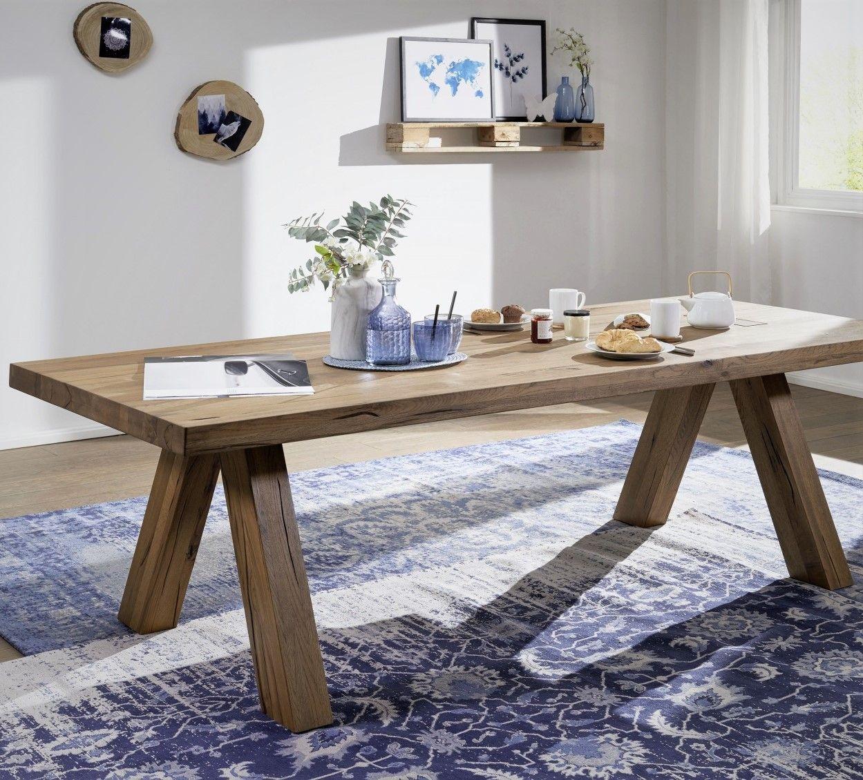 Tischgruppe Wildeiche Esszimmer möbel, Esstisch
