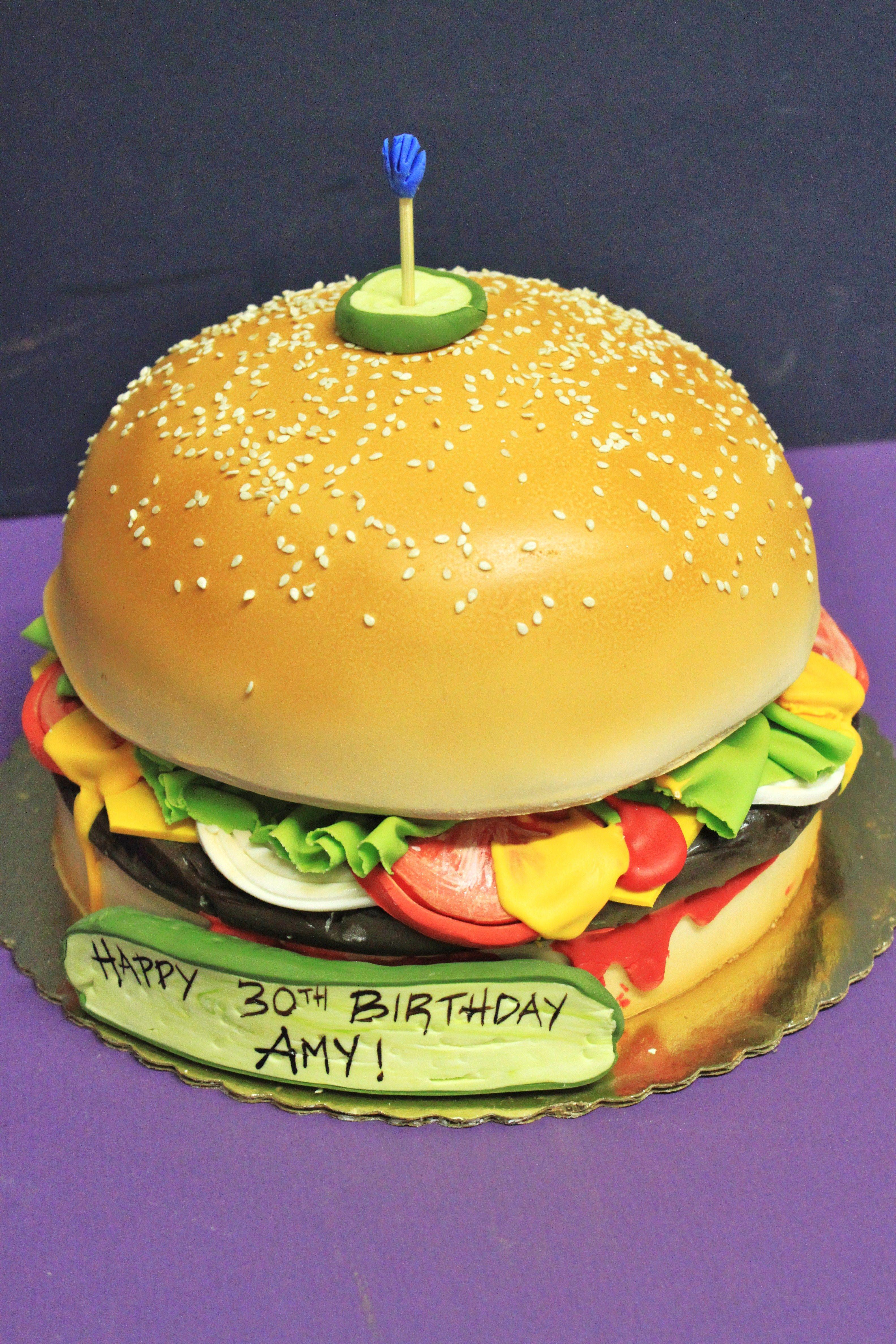 hamburger cake--i like the pickle on top | recipes | Pinterest ...