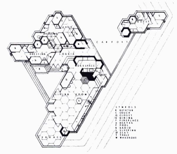 Bazett House Hexagonal Plan Frank Lloyd Wright Ideas