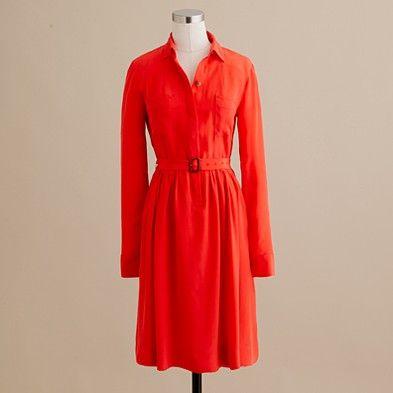 Blythe shirt dress in tangerine