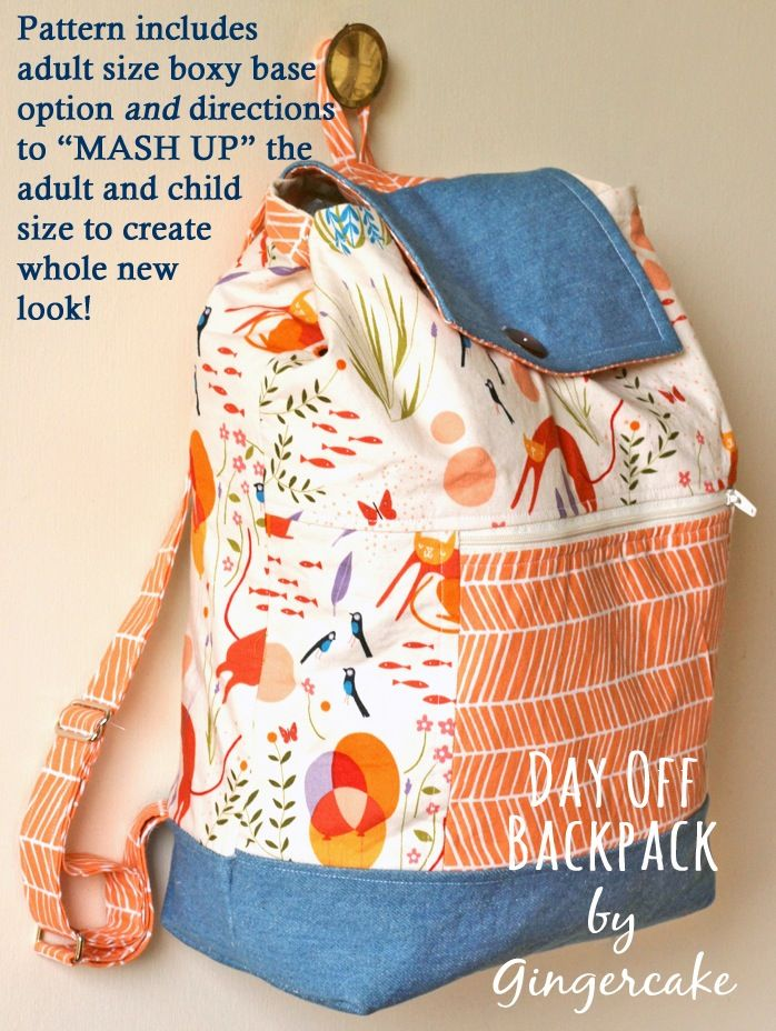 Day Off Back Pack PDF Sewing Pattern Adult and Child Size NEW ...