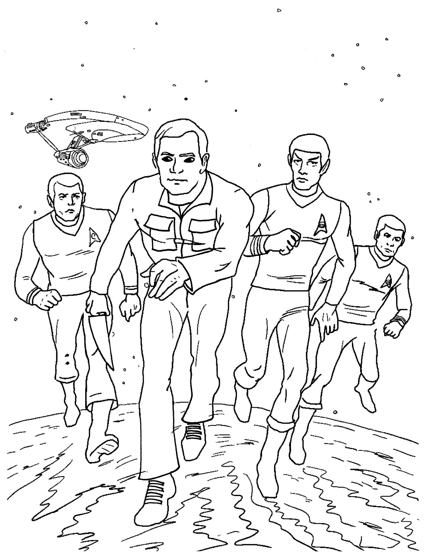 Captain Kirk Michael Myers Star Wars Characters Coloring Books Star Trek Party