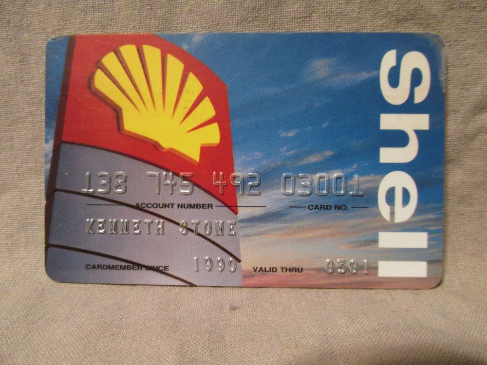 Expired shell gas credit card 2001 kps gas station cover