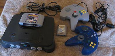 Nintendo 64 N64 Smoke Grey NUS 001 Console Game Controllers