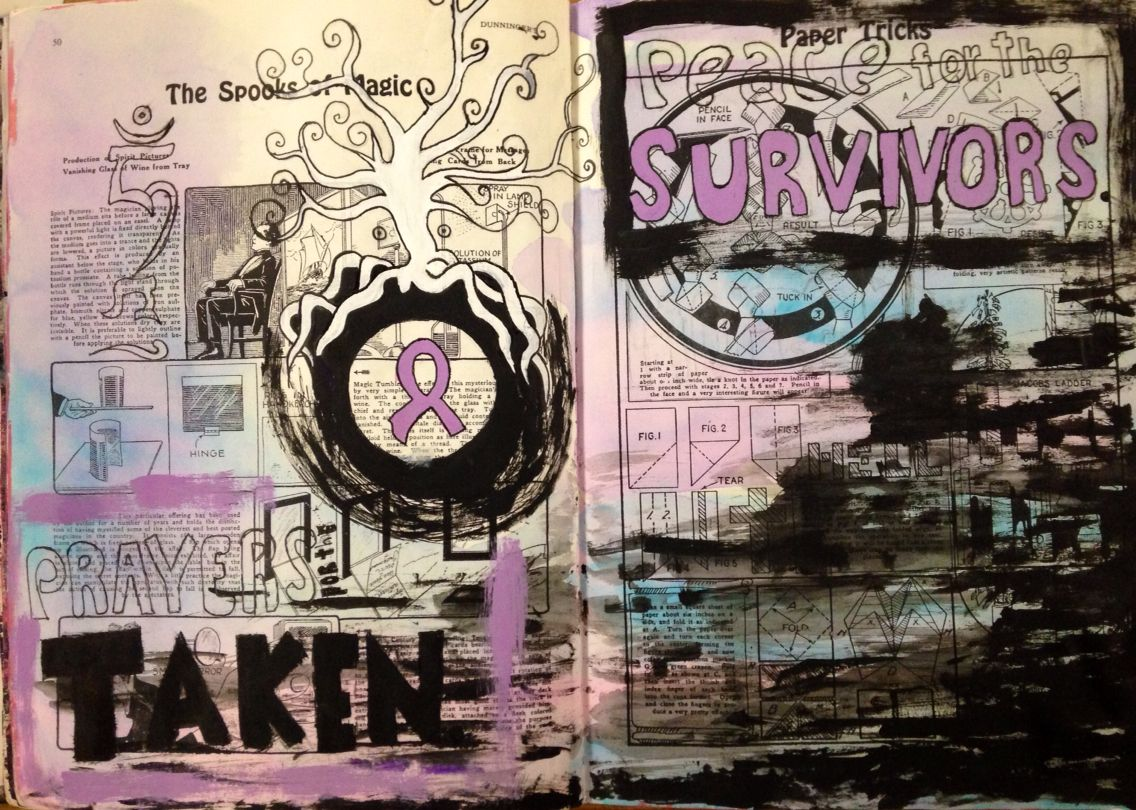 Altered Book #9 - RELAY for LIFE - NGHS room 406