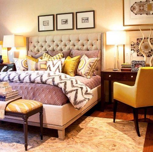 Purple And Mustard Bedroom Home Decor