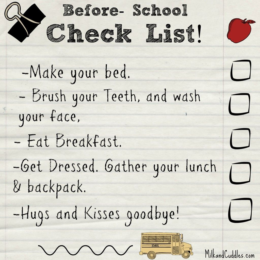 Tips For Making Your Morning And After School Routines A