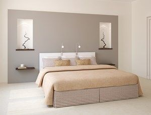 déco chambre à coucher couleur gris rose poudre | DECO CHAMBRE ...