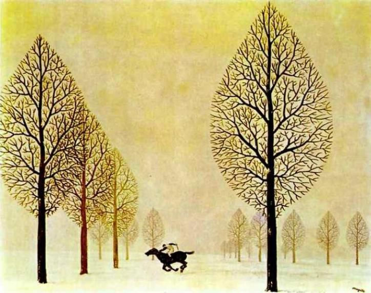 René Magritte – The Lost Jockey – 1948