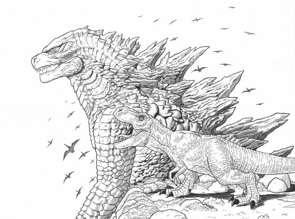Tyrannosaurus Rex and Godzilla by AmirKameron   고질라, 공룡, 크로스오버