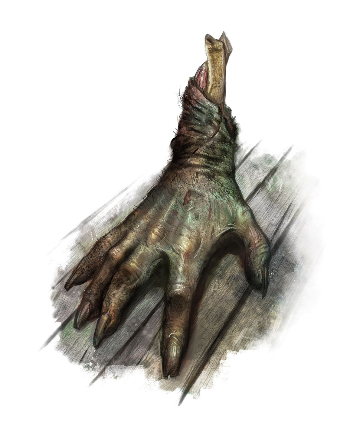 Crawling Claw (from the D&D fifth edition Monster Manual). Art by Jim Pavelec