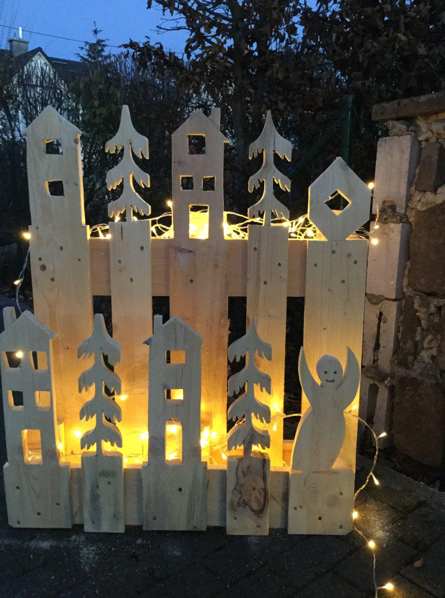 Paletten-Upcycling: Coole DIY-Deko zu Weihnachten