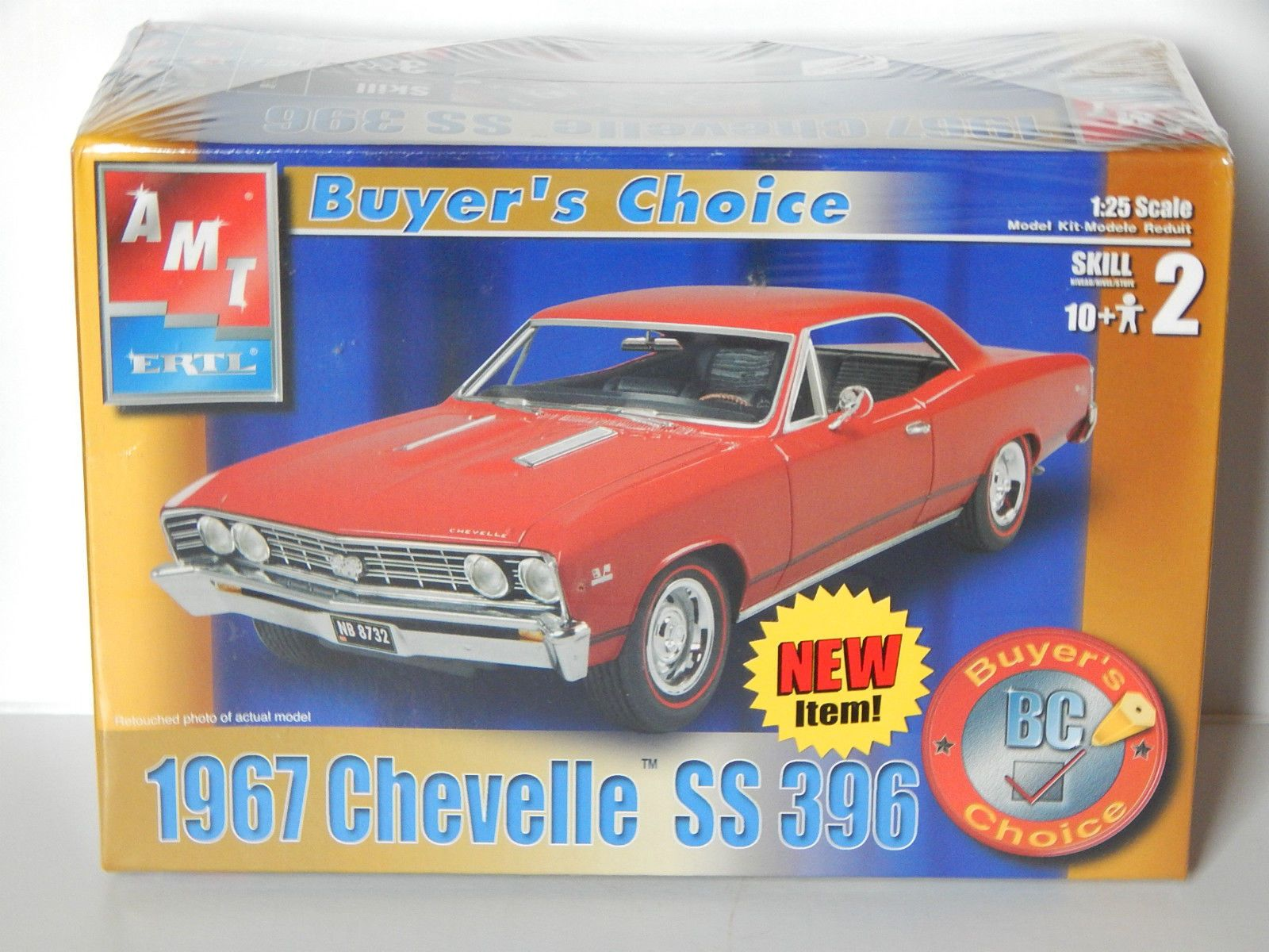 AMT \'67 Chevelle SS 396 Muscle Car Buyer\'s Choice Model Kit ...