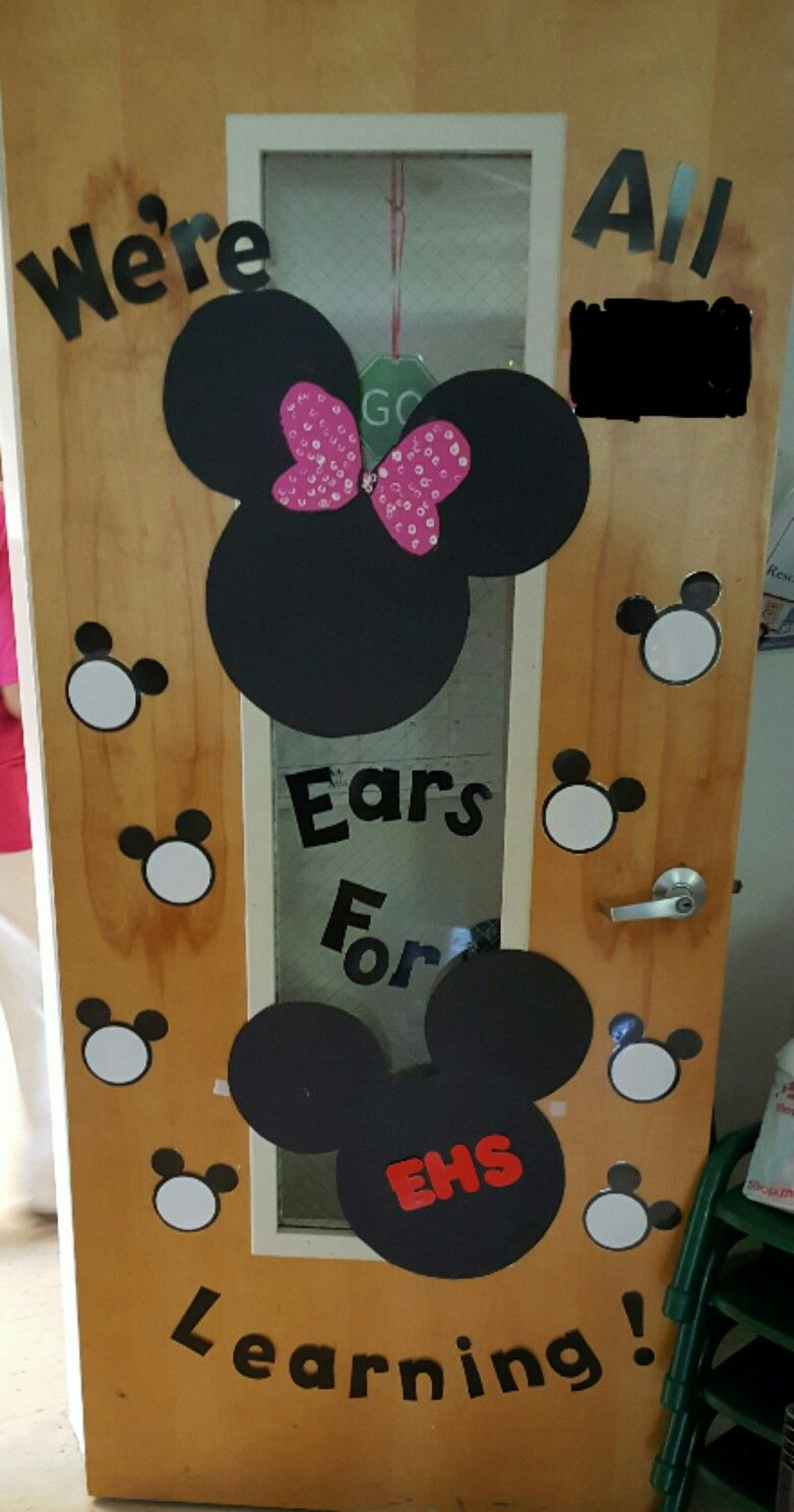Mickey mouse classroom door