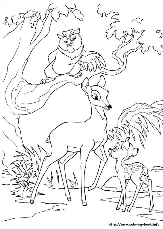 Bambi 2 coloring picture | coloring book pages | Pinterest