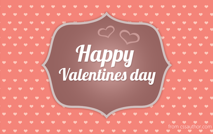 Free Printable Valentines Day Card PSD cssauthor – Valentines Day Cards Templates