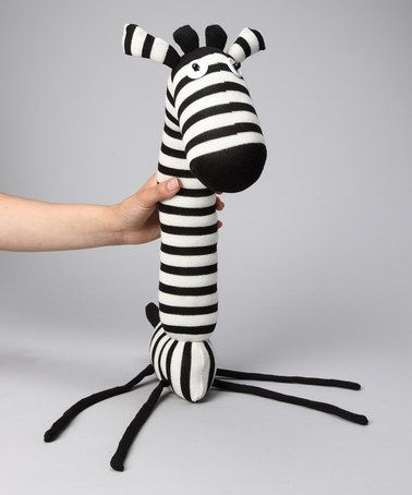 Not sure why but I think he's the cutest little thing!   Black Giraffe Sock Doll