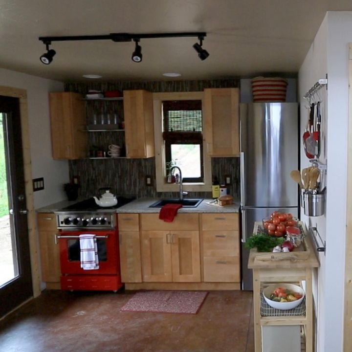 colorado tiny house kitchen Timber Trails Turnkey tiny house