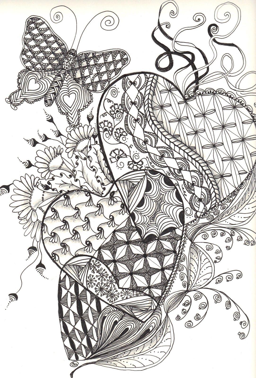 Zentangle Hearts | Friday, September 21, 2012 | Butterfly ...