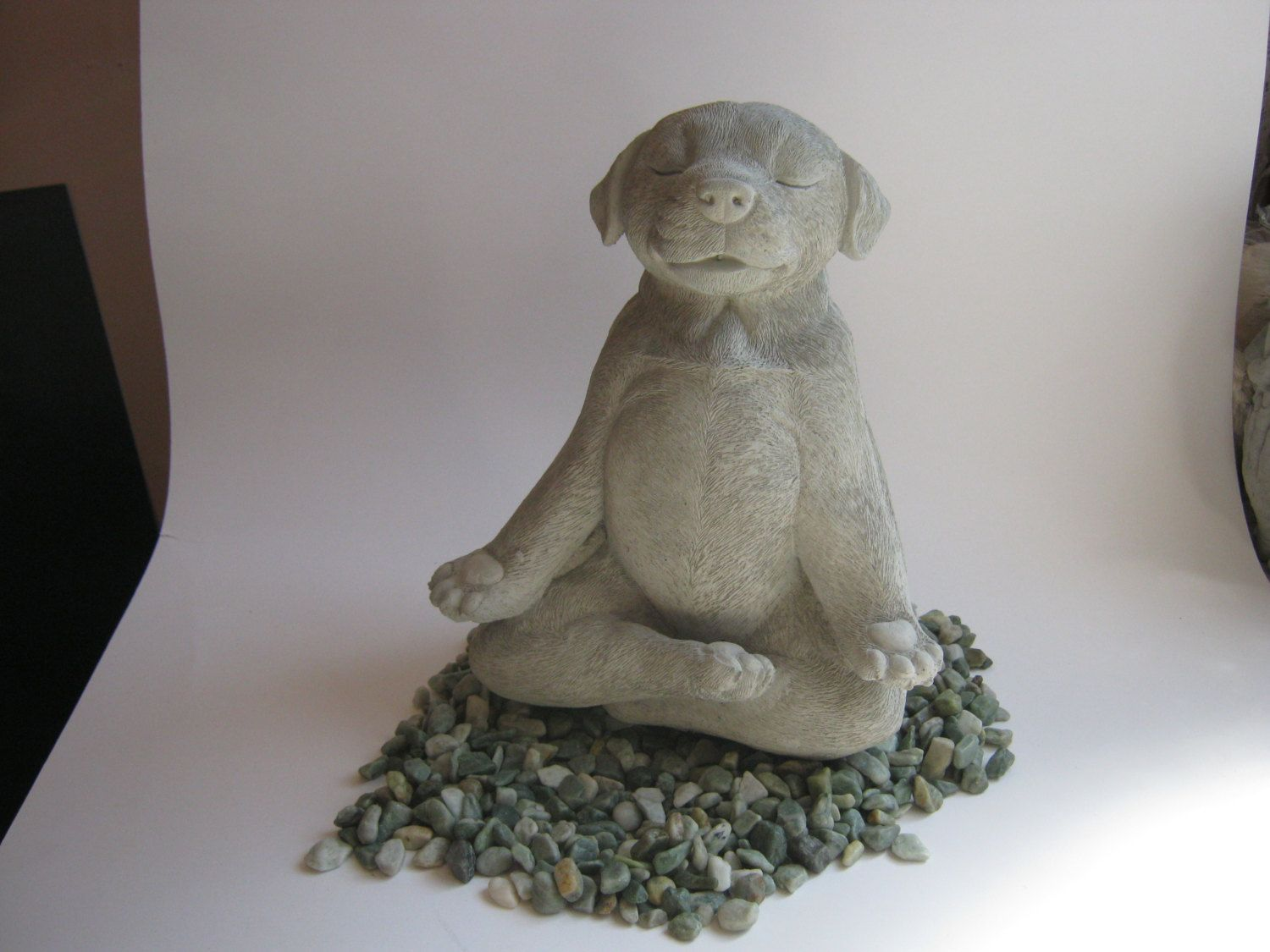 Dog Statue, Buddha Dog, Meditating Dog Statue, Zen Cement