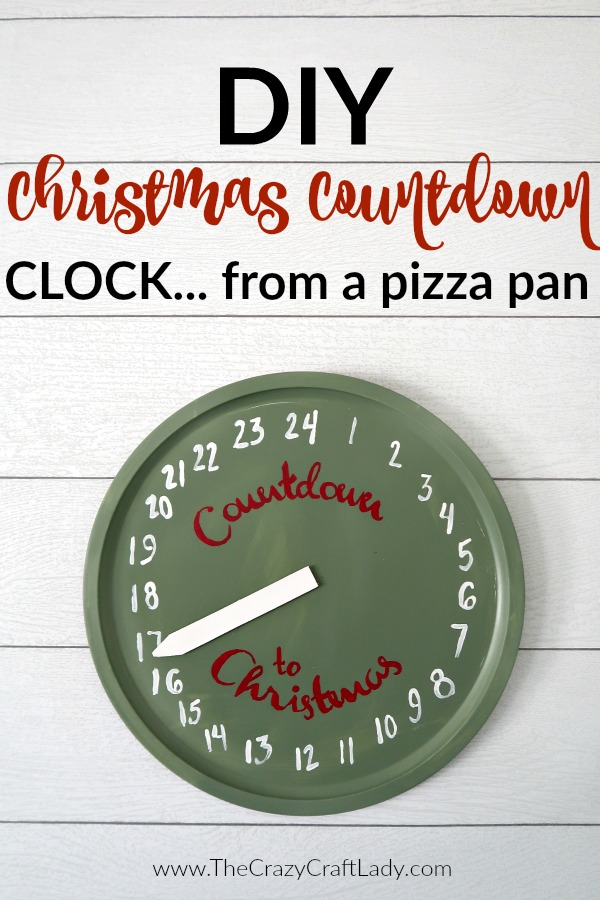 Christmas Countdown Clock Craft - The Crazy Craft Lady