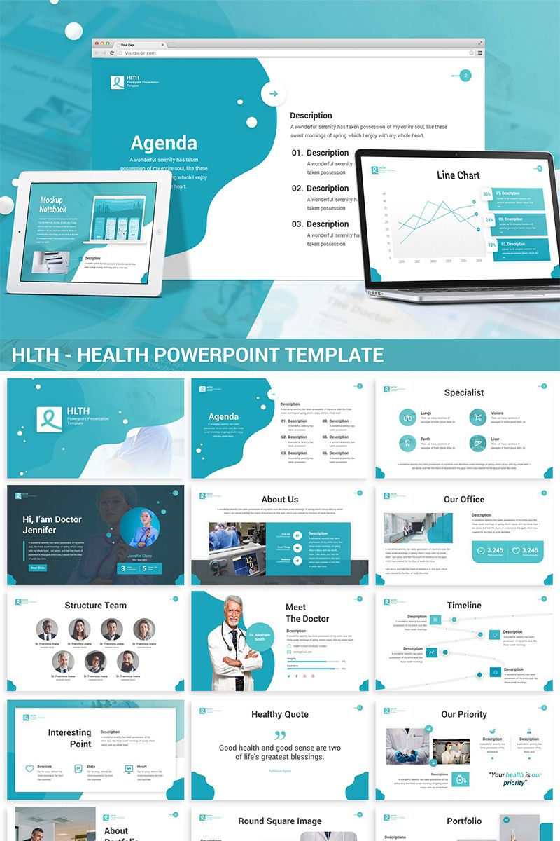 HLTH - Health PowerPoint Template #82230