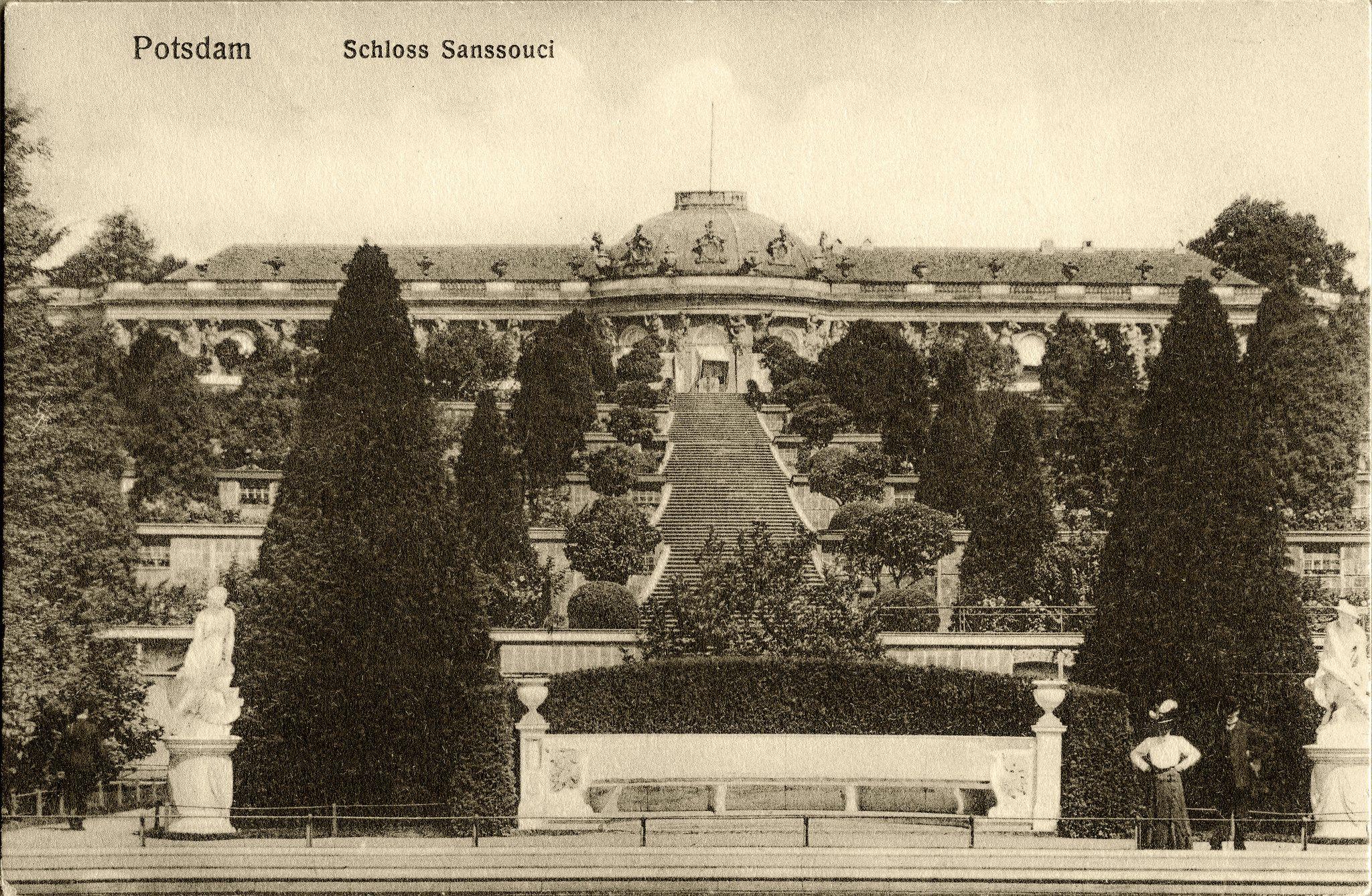 Potsdamer Gärten potsdam schloss sanssouci 1911
