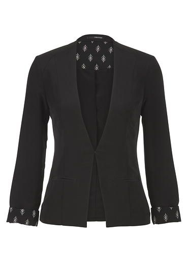 Lightweight blazer with ethnic trim (original price, $44) available at #Maurices