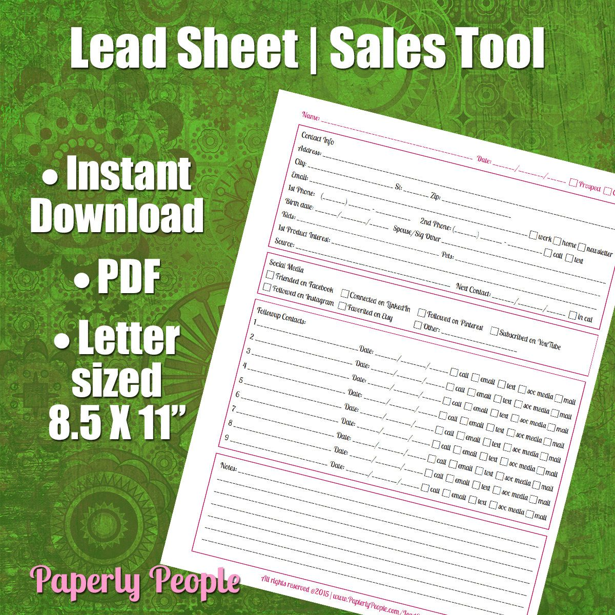 lead tracking sheet followup worksheet for all your leads