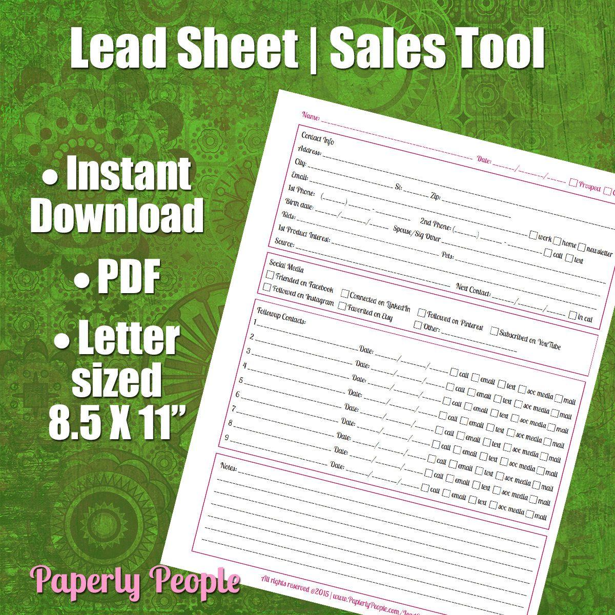 Lead Tracking Sheet