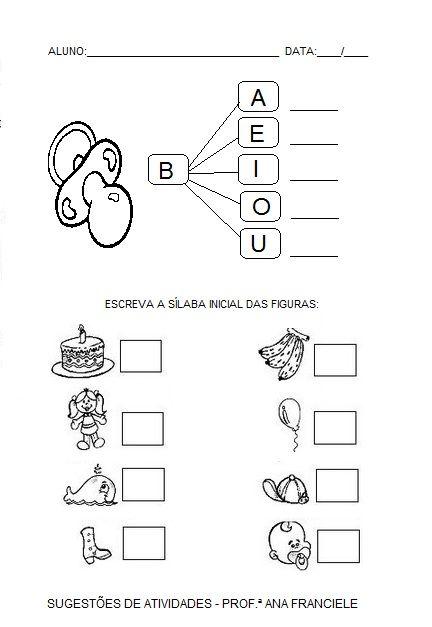 Alegria De Aprender Na Educacao Infantil Atividades Com A Letra B