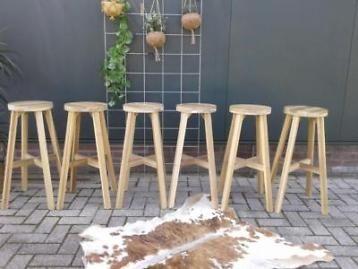 Massief Houten Barkrukken.6 Skogsta Krukken Massief Acacia Kruk Ikea Houten Barkruk