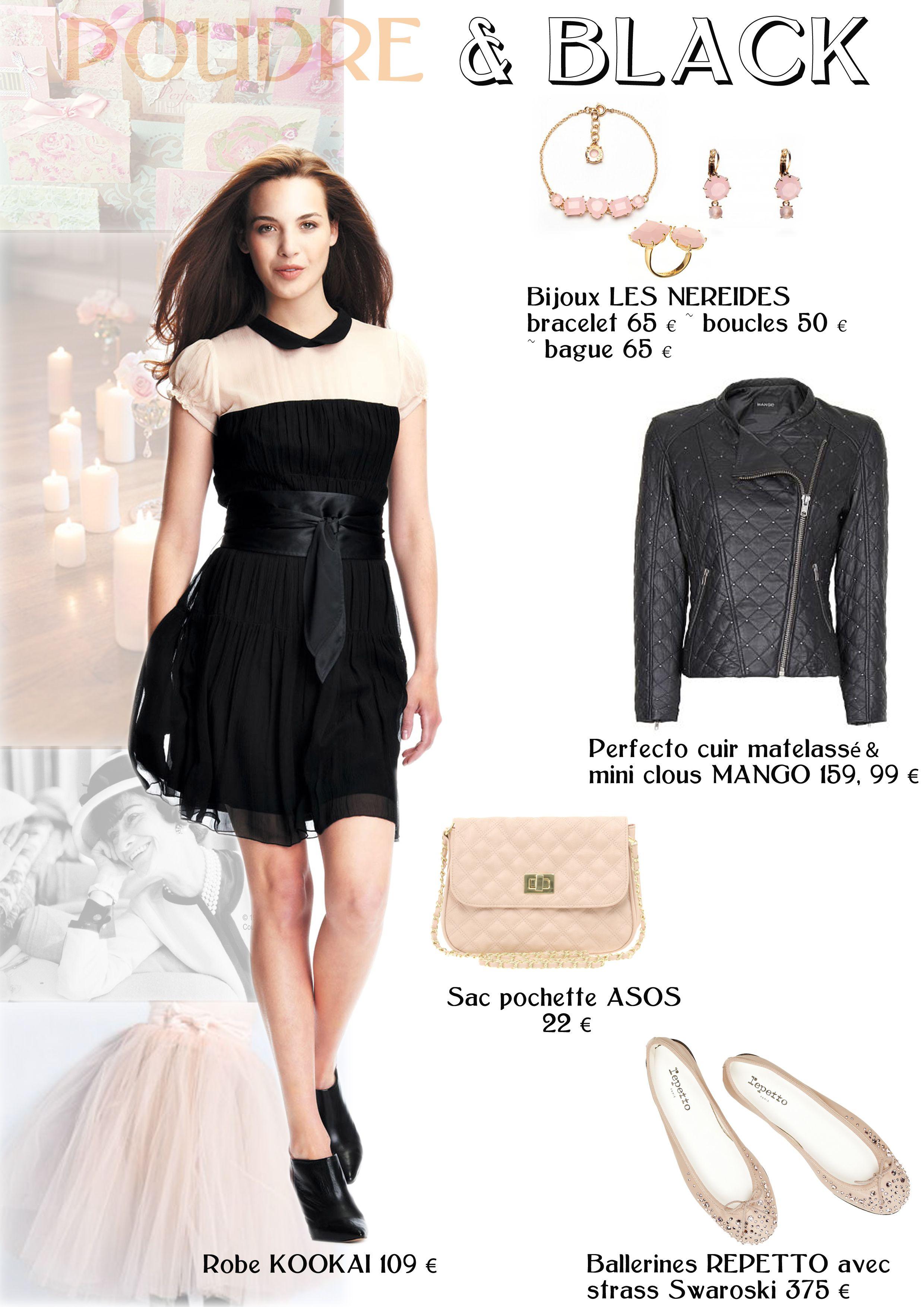 Accessoire avec petite robe noire