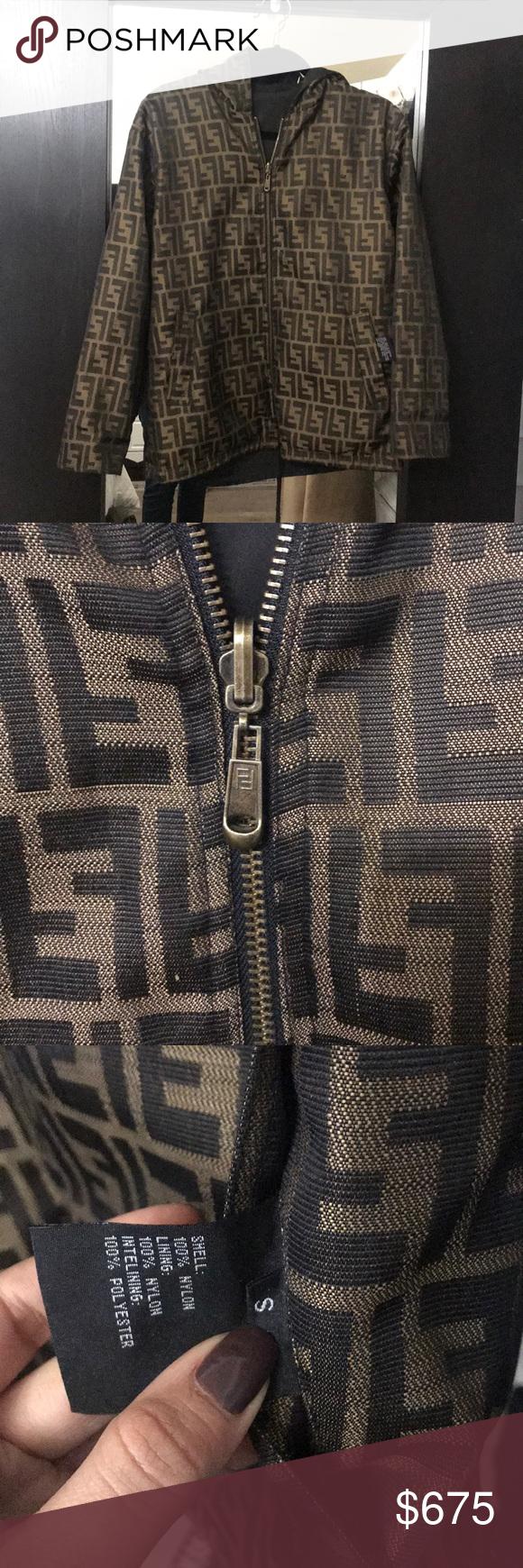 Vintage Fendi Zucca Monogram Jacket Monogram Jacket Clothes Design Reversible Jackets