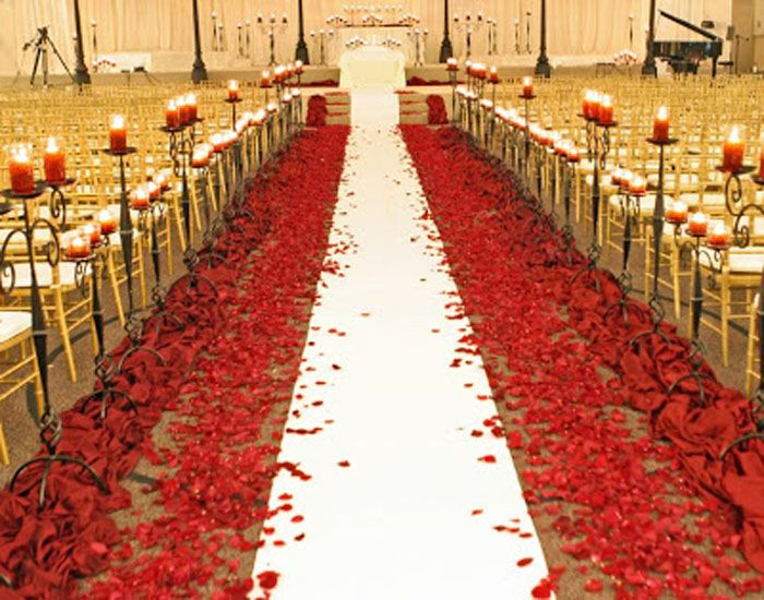 Red White and Gold Wedding Decorations #prom red decorations | john ...