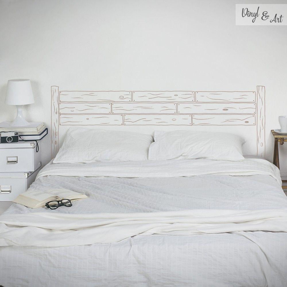 vinilo adhesivo decorativo cabeceros cabecero madera el dormitorio nos permite jugar con la imaginacin para hacer espacios creativos - Como Hacer Un Cabecero De Madera