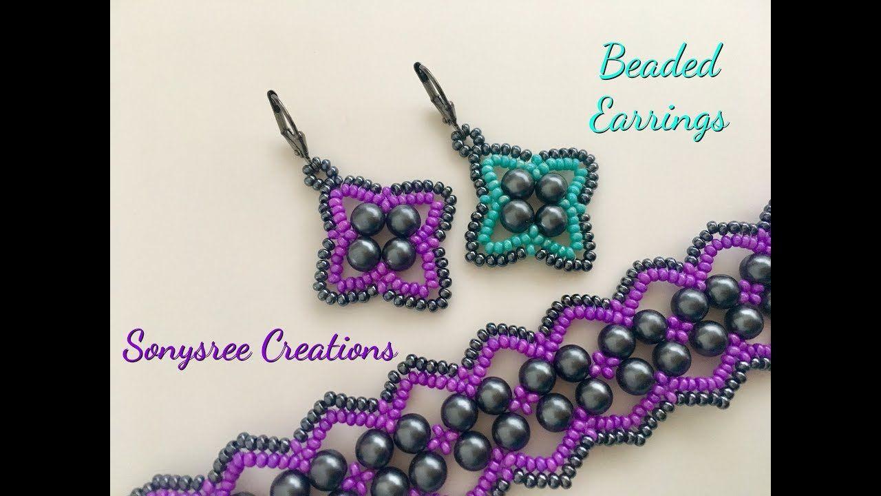 Vault Earrings Diy Beaded Earrings Seed Bead Tutorials